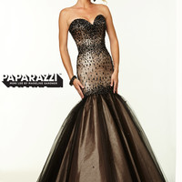 Sweetheart Beaded Tulle Mermaid Paparazzi Prom Dress By Mori Lee 97065