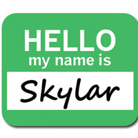 Skylar Hello My Name Is Mouse Pad