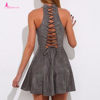 Back Lace up Dress