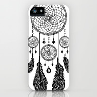 Dreamcatcher (Black & White) iPhone & iPod Case by 83 Drops