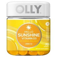 Olly Hello Sunshine Vitamin D Dietary Supplement Vitamin Gummies - Luminous Lemon - 70ct