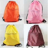 """2014 new candy color 19""""x15"""" String Bags Drawstring Backpack Tote School Bag Bookbags Sport Pack SXC04 = 1958558212"""