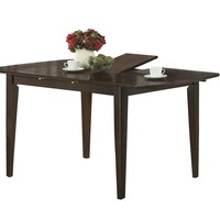 """Dining Table - 36""""X 48"""" X 60"""" / Cappuccino With A Leaf"""