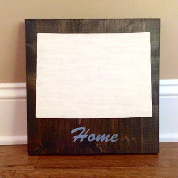 Customizable Colorado Wood Sign, Stained and Hand Painted, Personalize, Home decor