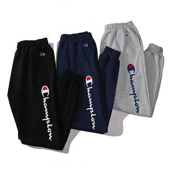 Champion Woman Men Fashion Running Pants Trousers Sweatpants