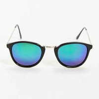 Green Revo Round Sunglasses