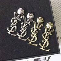 YSL Hot Sale Women Letter Pendant Earrings Accessories Jewelry