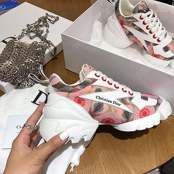 DIOR D-CONNECT Women Fashion Sneakers Sport Shoes