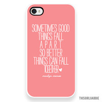 Plastic iPhone Case - Marilyn Monroe Quote - Better Things - Pink - iPhone 4/4s - iPhone 5