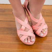 The Perfect Wedge- Coral