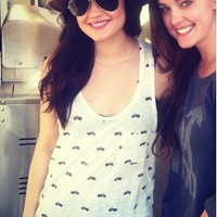 Rag & Bone/JEAN Motorcycle Pocket Tank in Bright White - as seen on Lucy Hale | SINGER22.com