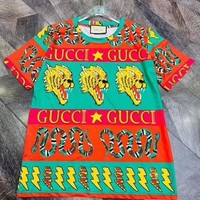 """Gucci"" Lover Unisex Personality Fashion Pattern Letter Print Short Sleeve T-shirt Top Tee"