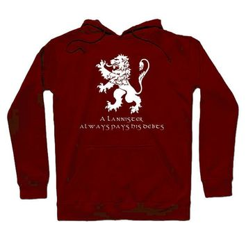 High-Q Unisex Game of Thrones House Lannister Hoodie Sweatshirts Game of Thrones Lannister Lion Jacket Coat Pullovers