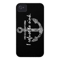 Black & White Refuse To Sink iPhone 4 Case from Zazzle.com