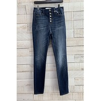 High Rise Skinny Jeans- Dark Wash