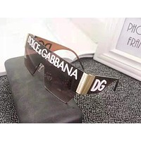 D&G fashion casual personality LOGO sunglasses