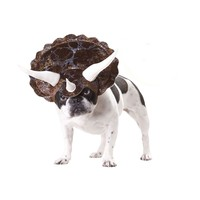 Triceratops Dog Costume (Small,Brown)