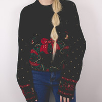 Vintage Wreath Ugly Christmas Sweater