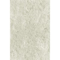 LA Rugs Soft Shaggy Collection White Area Rug