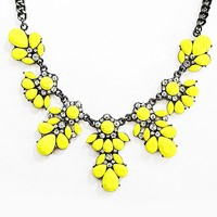 Yellow Floral Statement Necklace