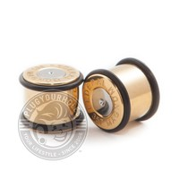 Gold Bullet Shell Steel Plugs