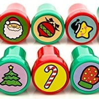 InkChristmas Stamps for Kids - Best Rubber Self Inking Holiday Stamp Set - Lifetime Guarantee