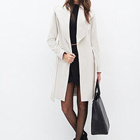 LOVE 21 Belted Wrap Coat Taupe