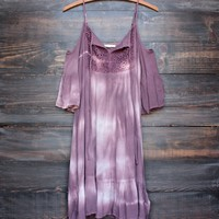 desert sand dress in tie dye mauve