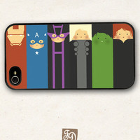 Iphone 4 / 4s hard or rubber case cute Avengers / the Hulk , Hawkeye , Captain America , Iron Man , Thor