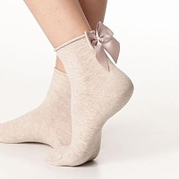 Summer Funny Wire After The Heel Ribbon Big Bow Short Socks Wild Chaussette Female Herring Ankle Socks