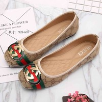 GUCCI Women Slip-On Fashion Low Heeled Shoes
