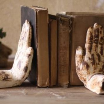 One Kings Lane - Rustic Charm - Pair of Hand Book Ends