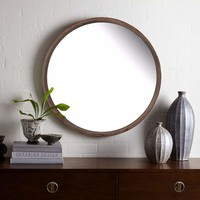 Beautifully Carved Thayne Round Wall Mirror