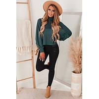 Butter Me Up Dolman Sleeve Top (Teal)