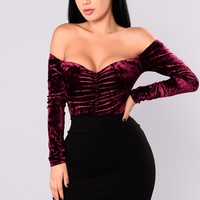 Crushin Hard Bodysuit - Plum