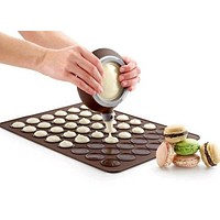 Silicone Macaroon Pastry Oven Baking Mold Set 48 slots