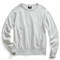 Slub Sweatshirt in Eggshell Mix