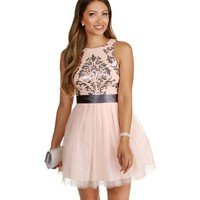 Stacy-pink Homecoming Dress