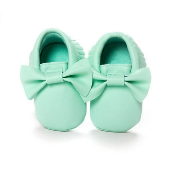 New Tassels Baby Moccasin Newborn Babies Shoes Soft Bottom PU leather Prewalkers Boots