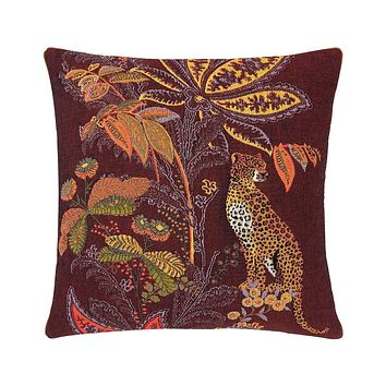 Indienne Grenat Decorative Pillow by Iosis
