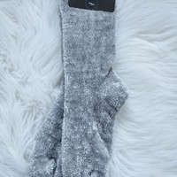 Chenille Sock, Grey