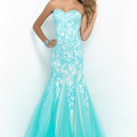 2015 Blush Mermaid Prom Dress 10013
