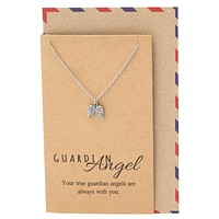 Cassiel Guardian Angel Wings Necklace