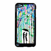 Love Song Romantic In The Rain Paint iPod Touch 5th Generation Case