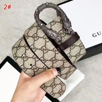 GUCCI New fashion more letter leather couple belt 2# With Box