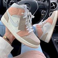 Nike Air Jordan 1 Mid-Top Milan Men's and Women's Sneakers Shoes