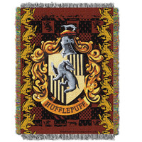 Harry Potter Hufflepuff Crest  Woven Tapestry Throw (48inx60in)