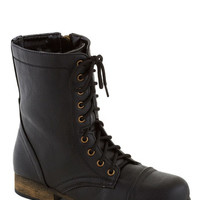 ModCloth Steampunk Path and Present Boot in Black