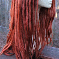 Ginger Dreadlock Wig * Synthetic Lace Front Dreads * Ginger Red Orange  * Cosplay * Wilding * Festival * Rave * LARP *