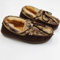 Luckless LLC | Camo Leather Moccasins (adult)